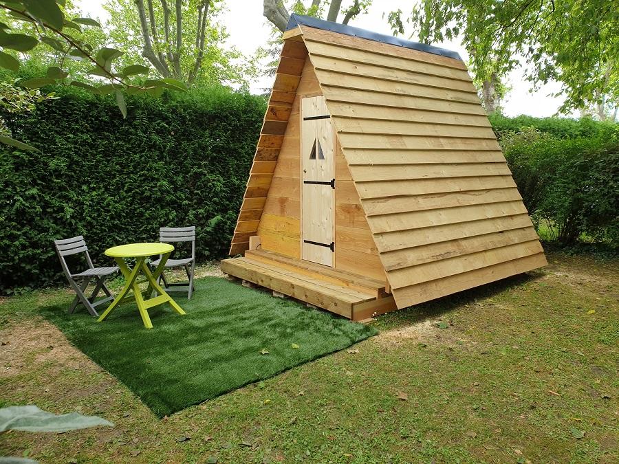 Location Tente bois 1 chambre
